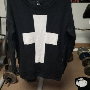 Forever 21 cross sweater
